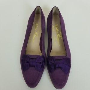 Salvatore Ferragamo purple flats size 8